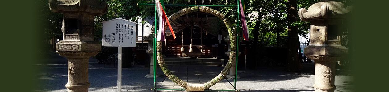 境内内にある芽の輪