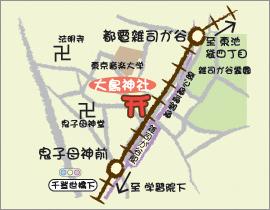 大鳥神社の地図